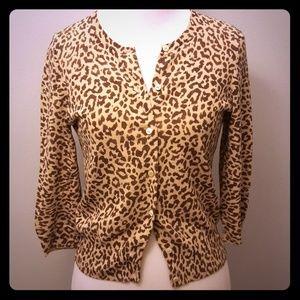 J.Crew leopard cardigan
